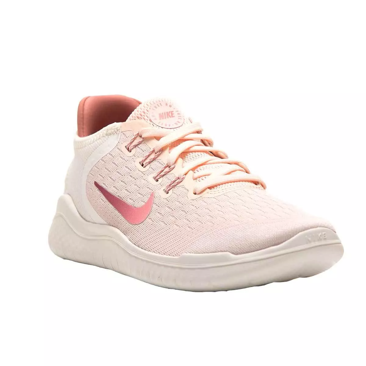 Nike Free RN 2018 Women's Running Shoes, Guava IceRust Pink