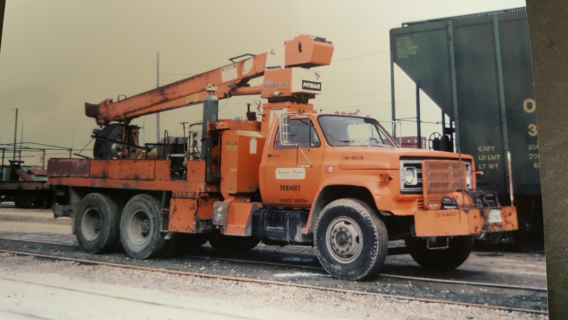 SP Southern Pacific MOW Truck Door N Scale Decals