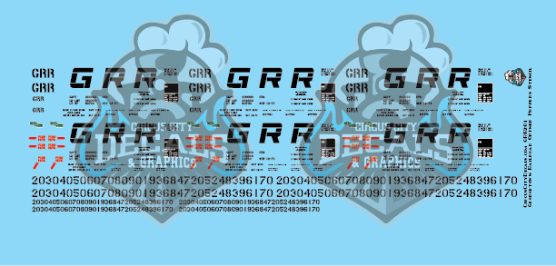 HO Scale Georgetown Railroad Ortner Car Decals