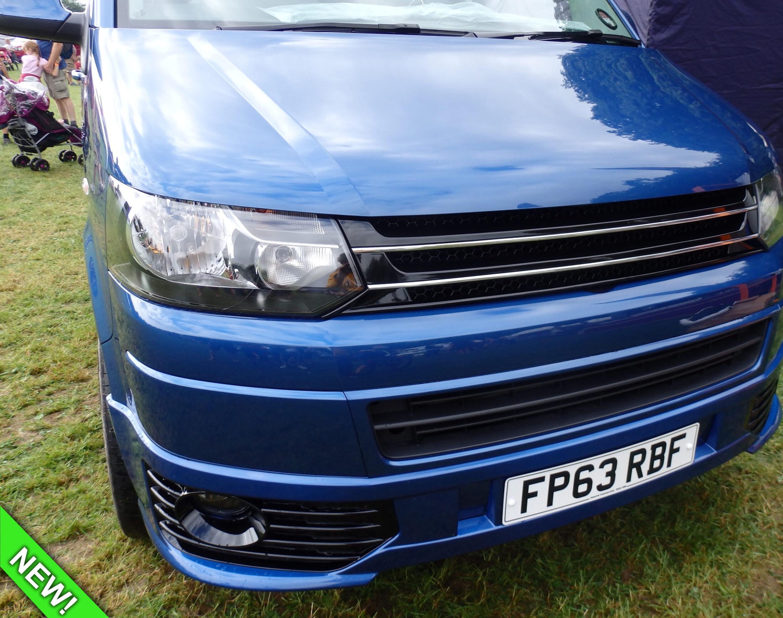 Caddy Negro Mate Calidad Premium Insignia Trasero Para VW Transporter T5 /& T6