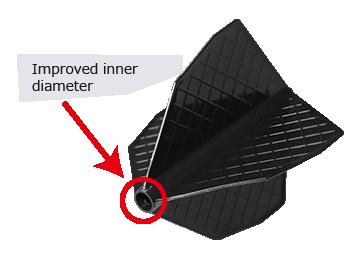 Cosmo Fit Flight Pro D-3 Black Dart Flights
