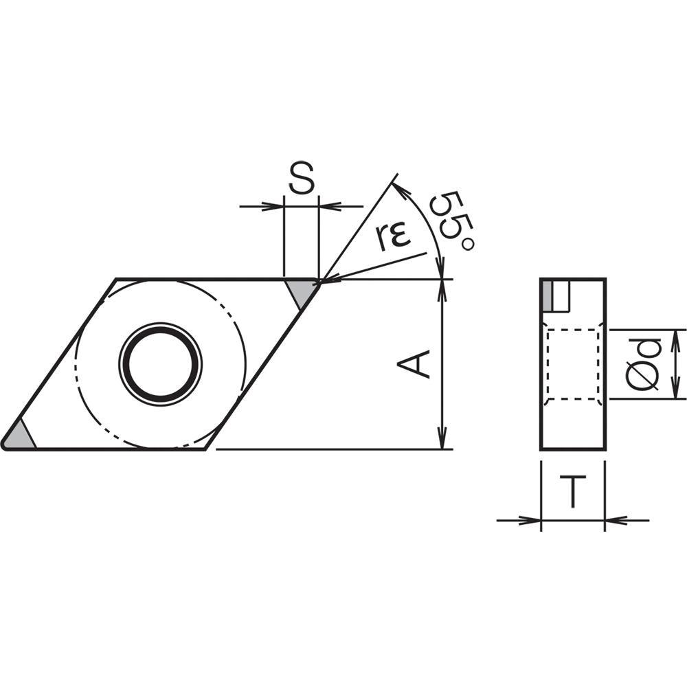 1 pc Indexable Turning Insert Kyocera DNGA 4305S00525ME KBN60M Grade CBN