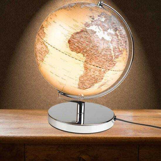 Gentlemenu0027s Hardware 31 Cms City Lights World Globe Lamp   Travel Office LED