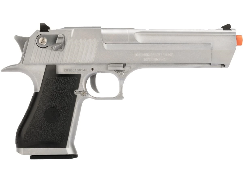We Tech Desert Eagle Full Metal Gas Blowback Airsoft Pistol By Cybergun Silver Ebay