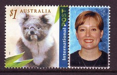 Sg#2061 Scott#      $1 Koala Int'l with Label