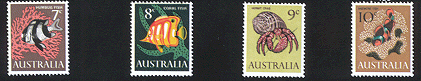 1966 Fish Definitives Set of 4