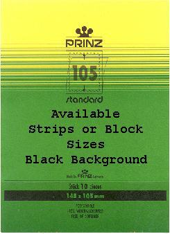 Black Strip 210 x 100 10pcs for blocks