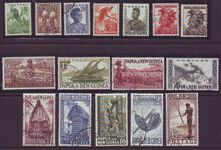 PAPUA NEW GUINEA 1952 DEFINITIVES USED SET 16