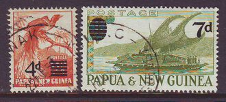 PAPUA NEW GUINEA 1957 SURCHARGES USED SET 2