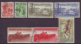 PAPUA NEW GUINEA 1958 NEW VALUE DEFINITIVES  USED SET 7