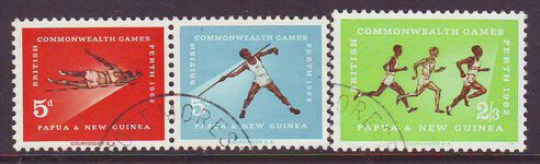 PAPUA NEW GUINEA 1962 EMPIRE GAMES USED SET 3