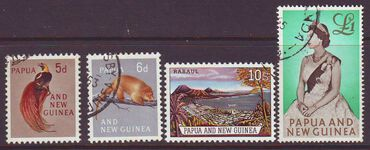 PAPUA NEW GUINEA 1963 NEW DEFINITIVES USED SET 4
