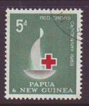 PAPUA NEW GUINEA 1963 RED CROSS USED 1