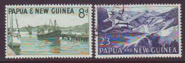 PAPUA NEW GUINEA  1963 SHIP & AIRCRAFT USED SET 2