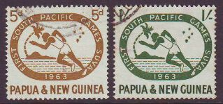 PAPUA NEW GUINEA 1963 SOUTH PACIFIC GAMES USED SET 2