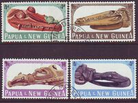 PAPUA NEW GUINEA 1965 CANOE PROWS Sg72-75 Used Set