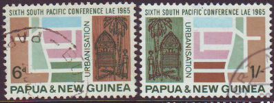 PAPUA NEW GUINEA 1965 SOUTH PACIFIC CONFERENCE Used set