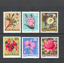 1968 State Floral Emblems set of 6