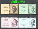 Sg#432-35 Scott# N/A 5c Famous Australians with Tabs