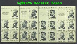 Sg#449b Scott#N/A 5c Prime Ministers Booklets Panes