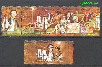 Sg#459-64 Scott#477-82 Captain Cook