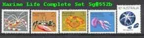 Sg#552b Marine Life Set of 5