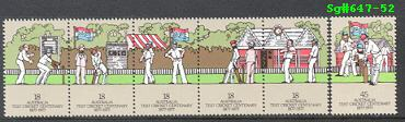 Sg#647-52 Scott#661-66 Cricket Centenary [6]