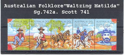 Sg#742a Scott#741 22¢ Folklore [5]