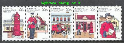 Sg#752a Scott#751-55 National Stamp Week