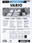Vario [Lighthouse] Stock Sheets 5 pcs BLACK Double Sided