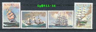 Sg#911-14 Scott#894-97 Clipper Ships [4]