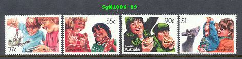 Sg#1086-89 Scott#1040-43 Aussie Kids