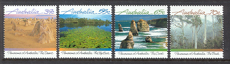 Sg#1161-64 Scott#1098-11 Panorama of Australia