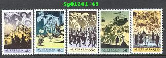 Sg#241-45 Scott#1174-78 75th Anniversary ANZAC