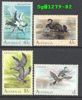 Sg#1279-82 Scott#1203-06 Waterbirds [4]