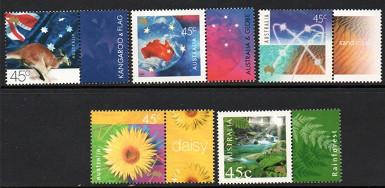 Sg#1972-76 Scott#1830-34 Nature & Nation [5]