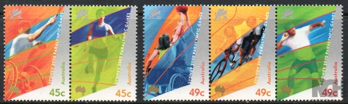 Sg#1990-94 Scott#1848-51 Paralympic Games