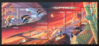 Sg#2049 Scott#1914 Space Fantasy Sheetlet