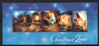 Sg#2058 Scott#1923a 2000 Christmas Sheetlet