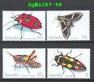 Sg#1287-90 Scott#1211-14 Insect