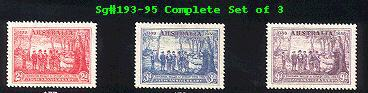 Sg#193-95 NEW SOUTH WALES - SET