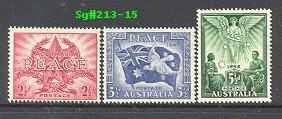 Sg#213-15 Scott#200-02 Peace Issue