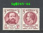 Sg#245-46 Scott#244-45 Gold Discovery/Victoria