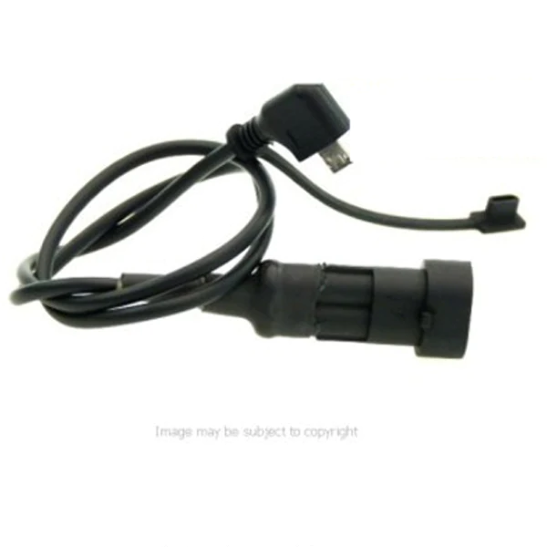 STRAIGHT Mini USB Connector for the Motorcycle Hard Wire Battery Cable