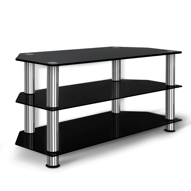 save off 32c4c 086c6 Details about Artiss TV Stand Entertainment Unit Media Cabinet Temptered  Glass 3 Tiers