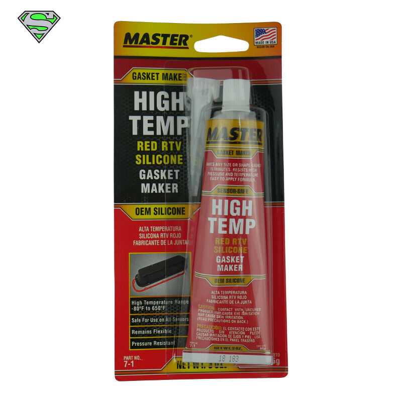 85g Master High Temp Red RTV Silicone Gasket Maker | eBay