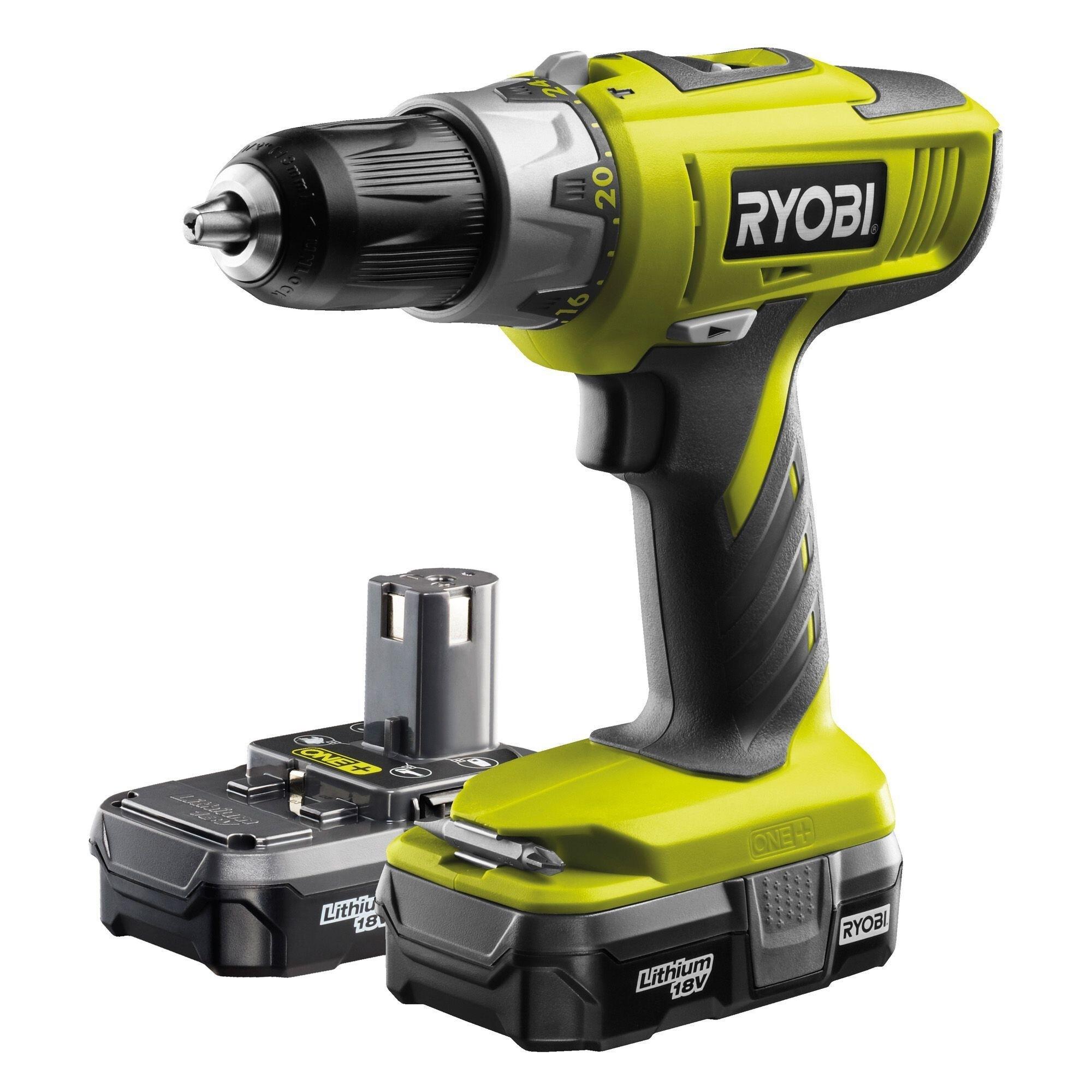 Ryobi LLCDI18022 ONE 2 Lithium Batts 18v Cordless Combi Drill