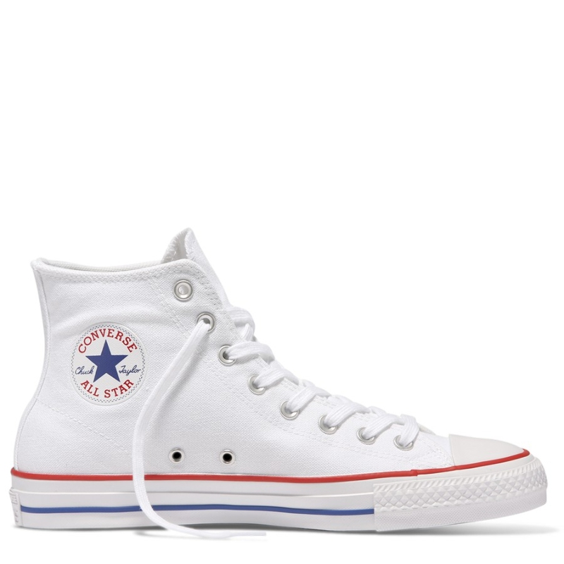 Details about Converse Chuck Taylor All Star Pro High Mens Shoes in White Red Blue