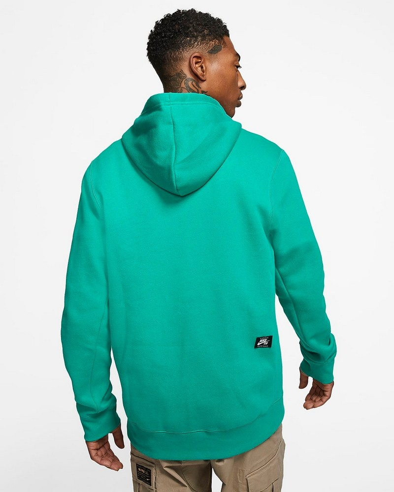 Details about Nike SB Icon Essentials Pullover Hoodie Mens in Neptune Green