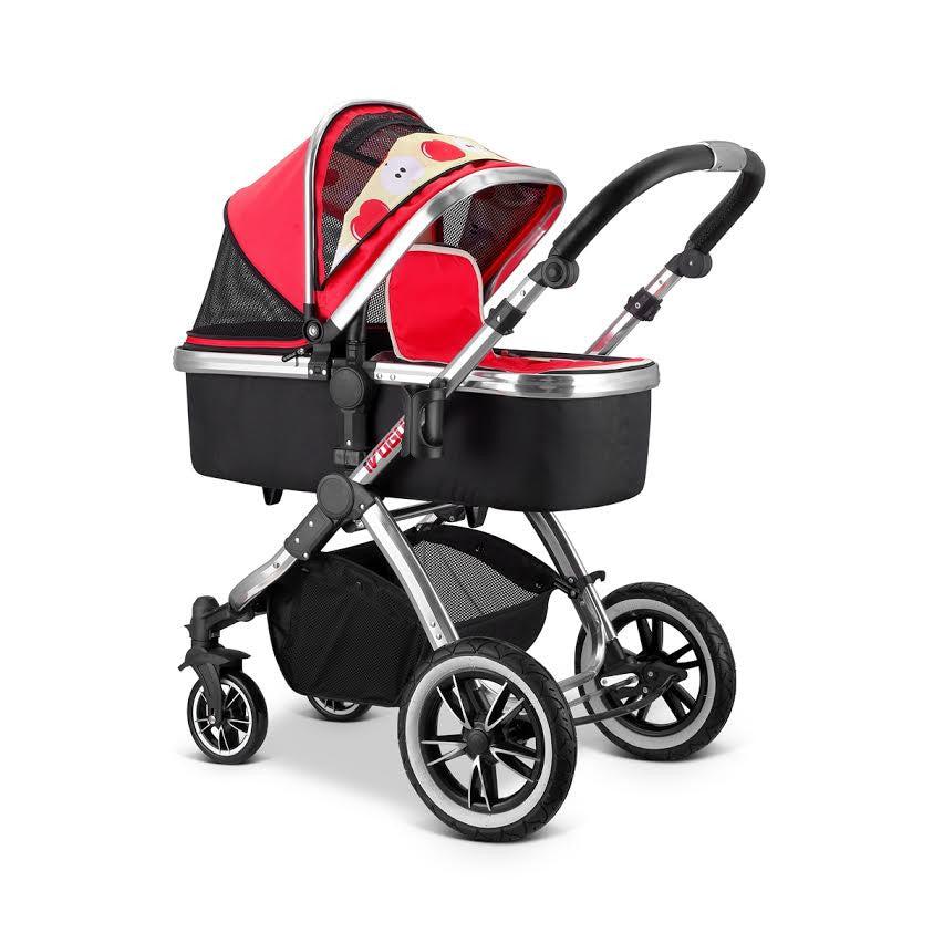 2018 iSafe OPTIMUM Stroller BOW Dots Design Parent Console